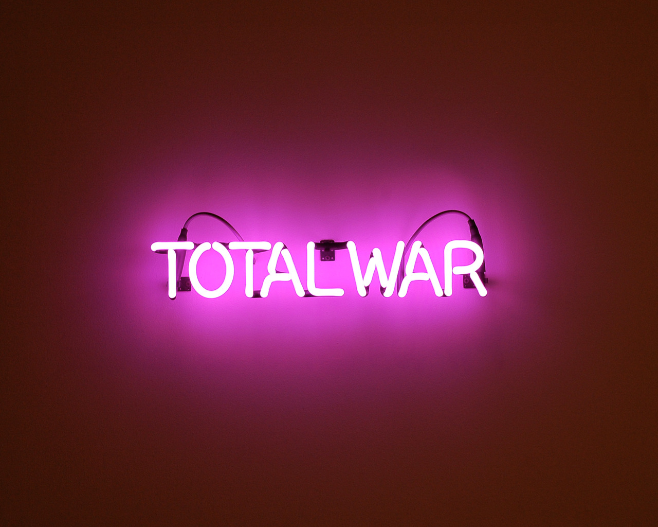 "dylanneuwirth: TOTAL WAR Neon, Transformer, Supports 24"" x 2.5"" x 3.5"" 2012"