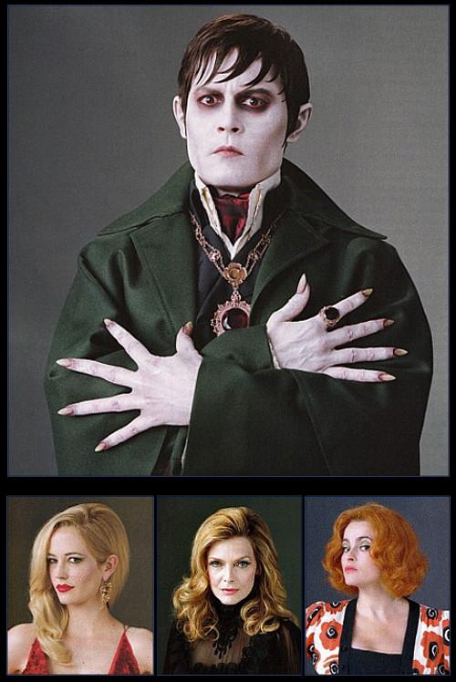 suicideblonde: Johnny Depp, Eva Green, Michelle Pfeiffer and Helena Bonham Carter in Dark Shadows