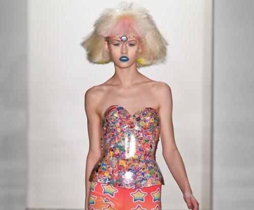 "theprincessblog: New York Fashion Week Fall 2012: Jeremy Scott's ""Lisa Frank Corset"""