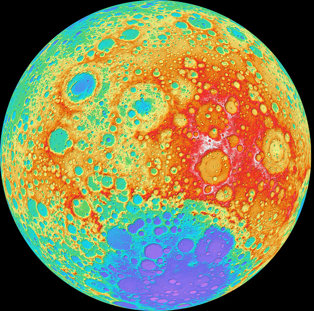 NASA's LRO Camera Team Releases High Resolution Global Topographic Map of Moon by NASA Goddard Photo and Video on Flickr. Drooling.