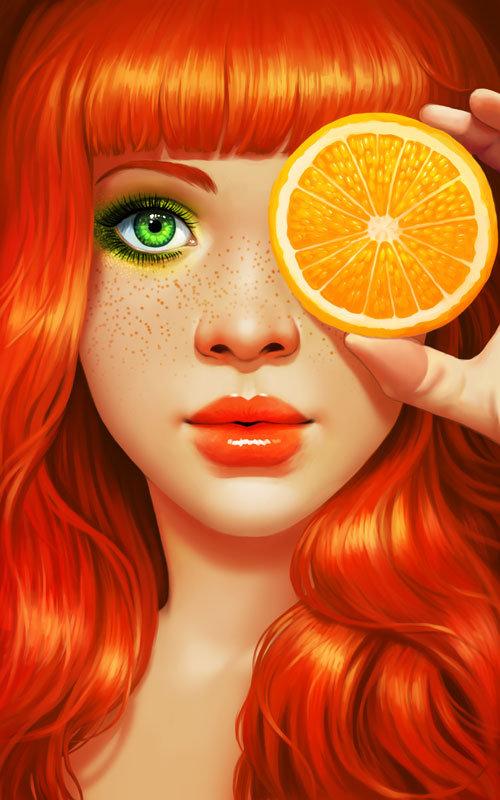 Red Orange by Daniela Uhlig on CGHUB