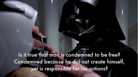 ianbrooks: Sartre Wars: Existential Star Wars (In French) But dont worry if you failed 9th grade french class, it's in subtitles! (I still cant help you if you never learned how to read, but then… how are you even here?) Video is embedded, or you can just gohere. Luke, I am still dead! (via:dangerousminds)