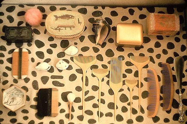 thingsorganizedneatly: Shelfscape arranged and photographed by Ray Eames.