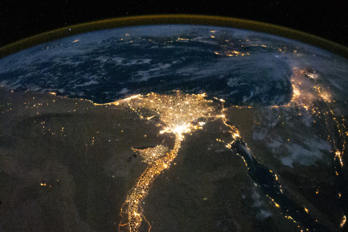 claeren: Nile River Delta at Night. Taken bythe crew of Expedition 25 aboard the International Space Station.