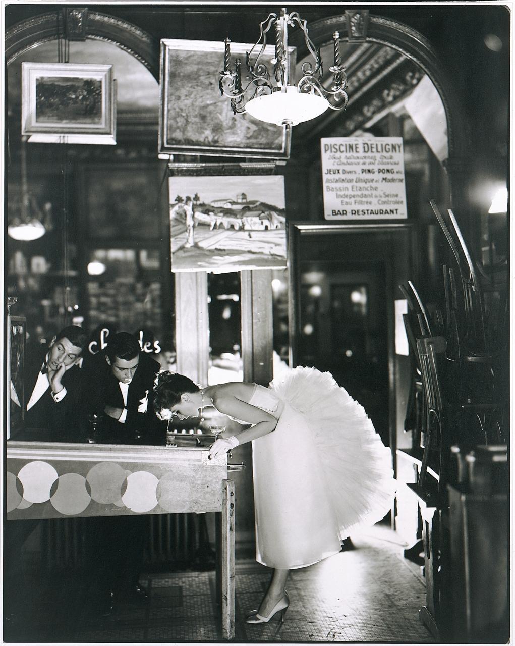 blaaargh: Richard Avedon, Suzy Parker, Evening Dress by Lanvin-Castillo, Café des Beaux-Arts, Paris, August 1956