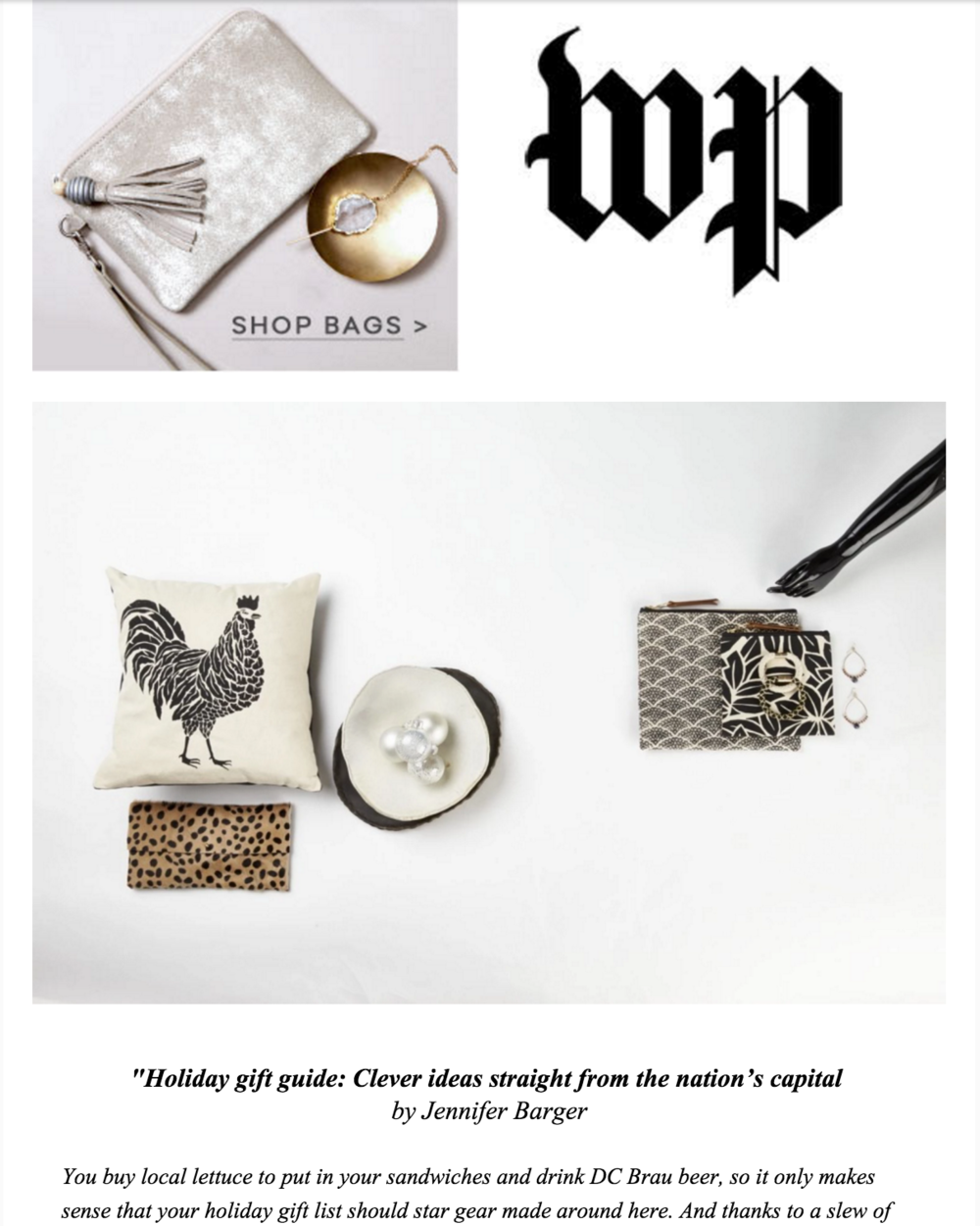 11.21 Washington Post Magazine Holiday Gift Guide // Article by Jennifer Barger | Photos by Greg Post