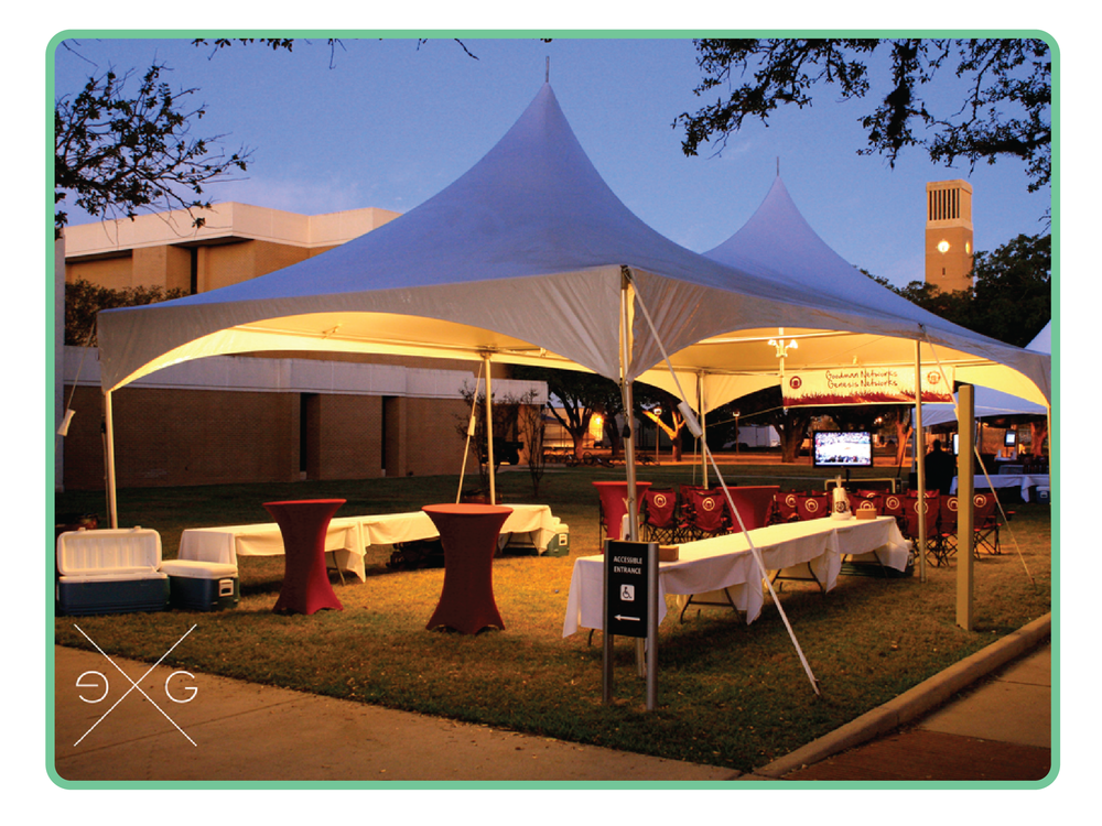 30x30 Frame Tent & Frame Tents u2014 The Event Group: A Tailgate Guys Co. | Auburn AL ...