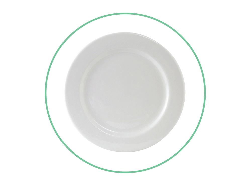 """7 1/2"""" White Plates"""