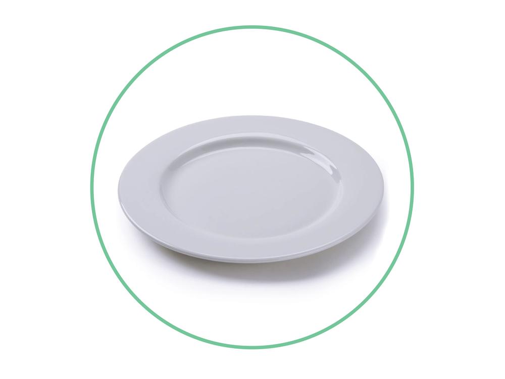 """10.5"""" White Plates"""