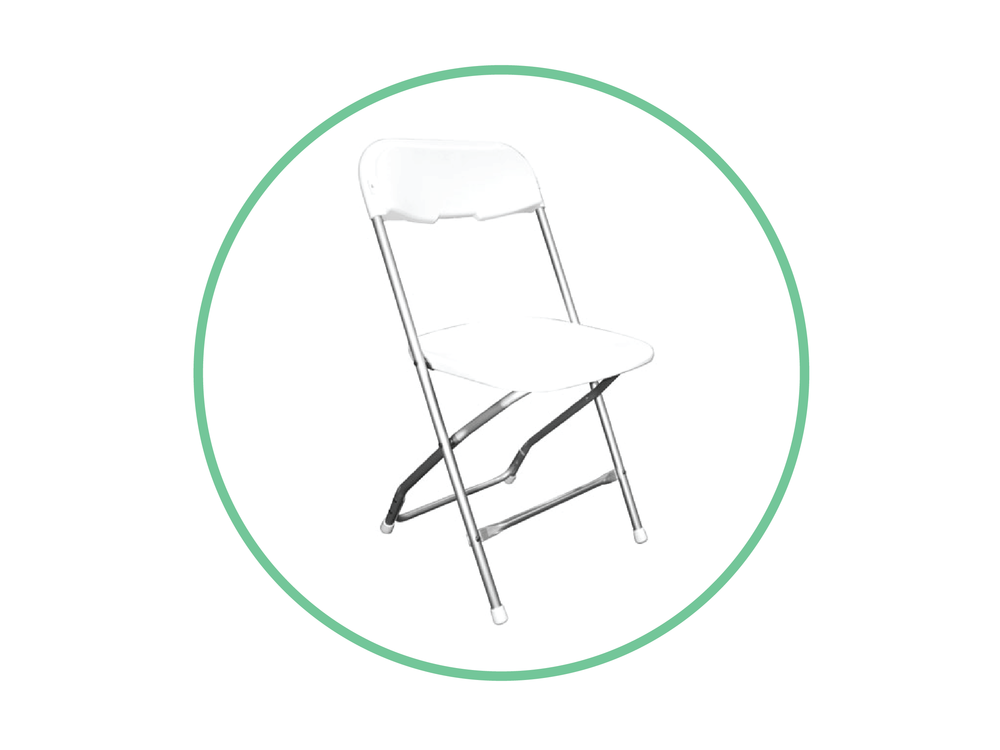 White Aluminum Folding Chair
