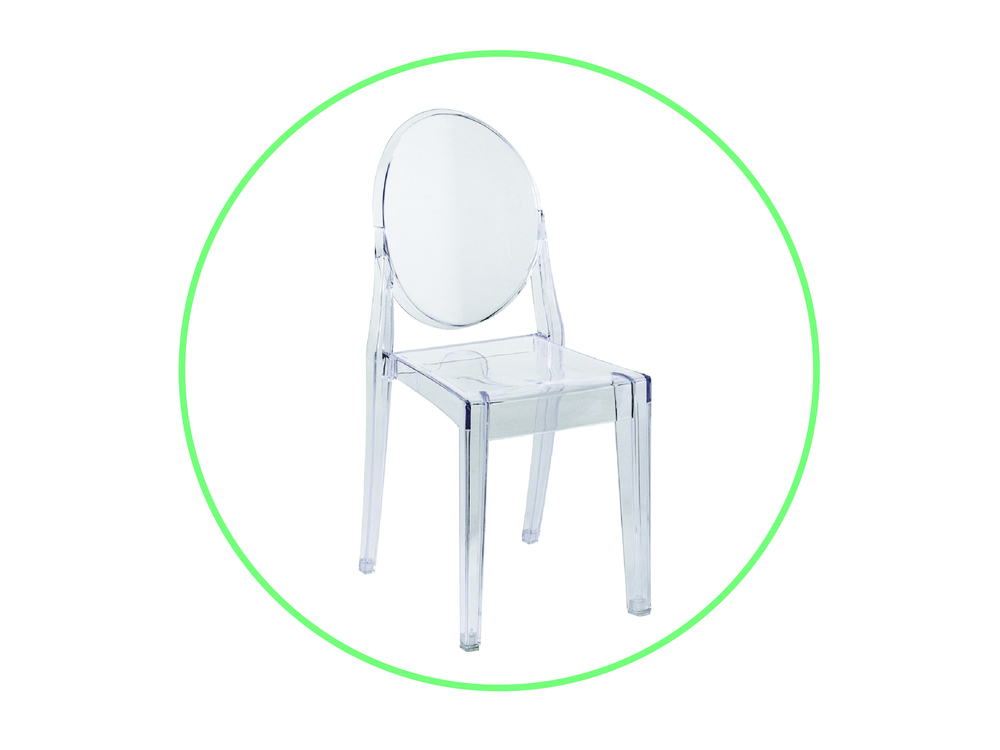 Armless Ghost Chair