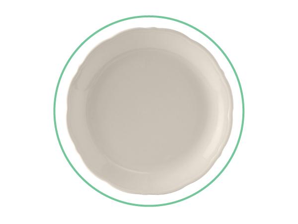 """10"""" Ivory Dinner Plates"""