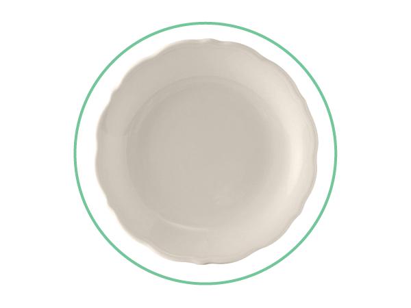 "7 3/8"" Ivory Salad/Dessert Plates"