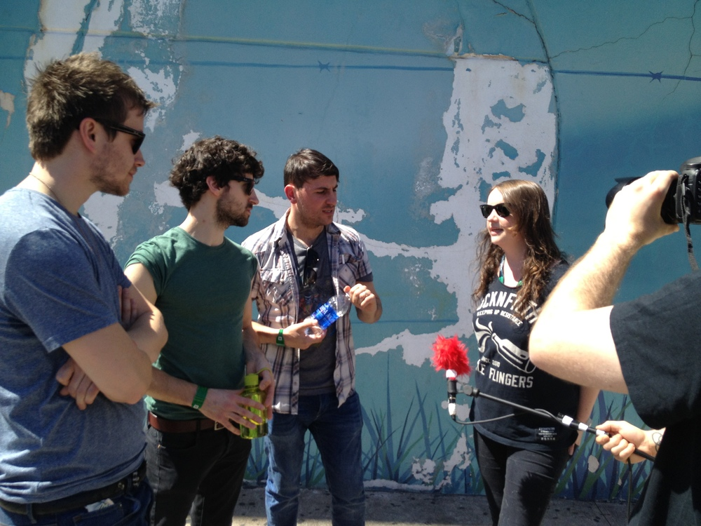 Una Mullally interview The Delorentos on the streets of Austin, Texas