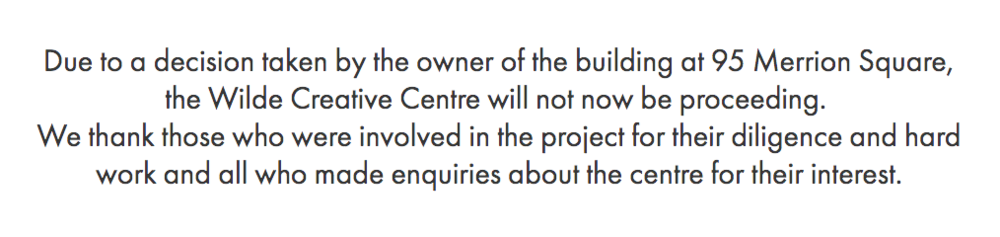 Statement issued on wildecreativecentre.com