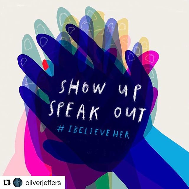 #Repost @oliverjeffers with @get_repost ・・・ In support of all those who were out protesting across the US today. Stay strong, show up, speak out. #ibelieveher #thefutureisfemale