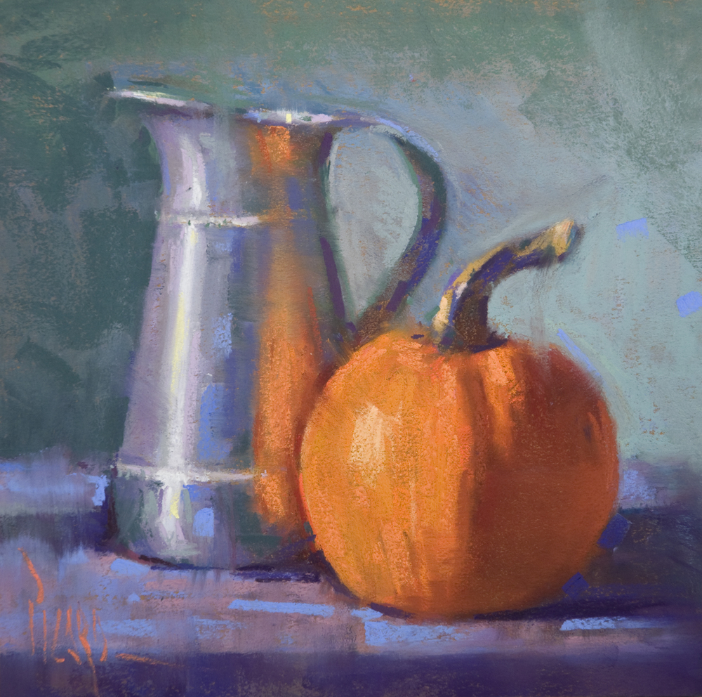 Pewter with Pumpkin