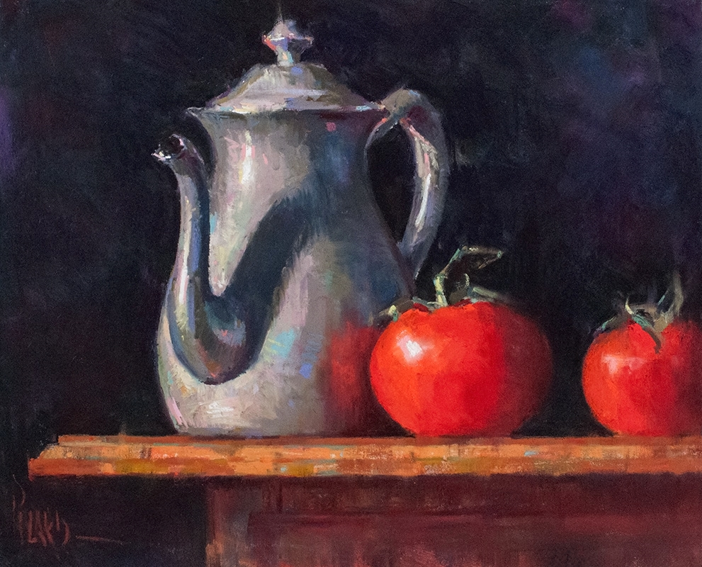 Teapot with Tomatoes
