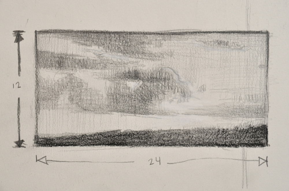 "Here's a little thumbnail sketch I created for a painting called, "" Let There Be Light! """