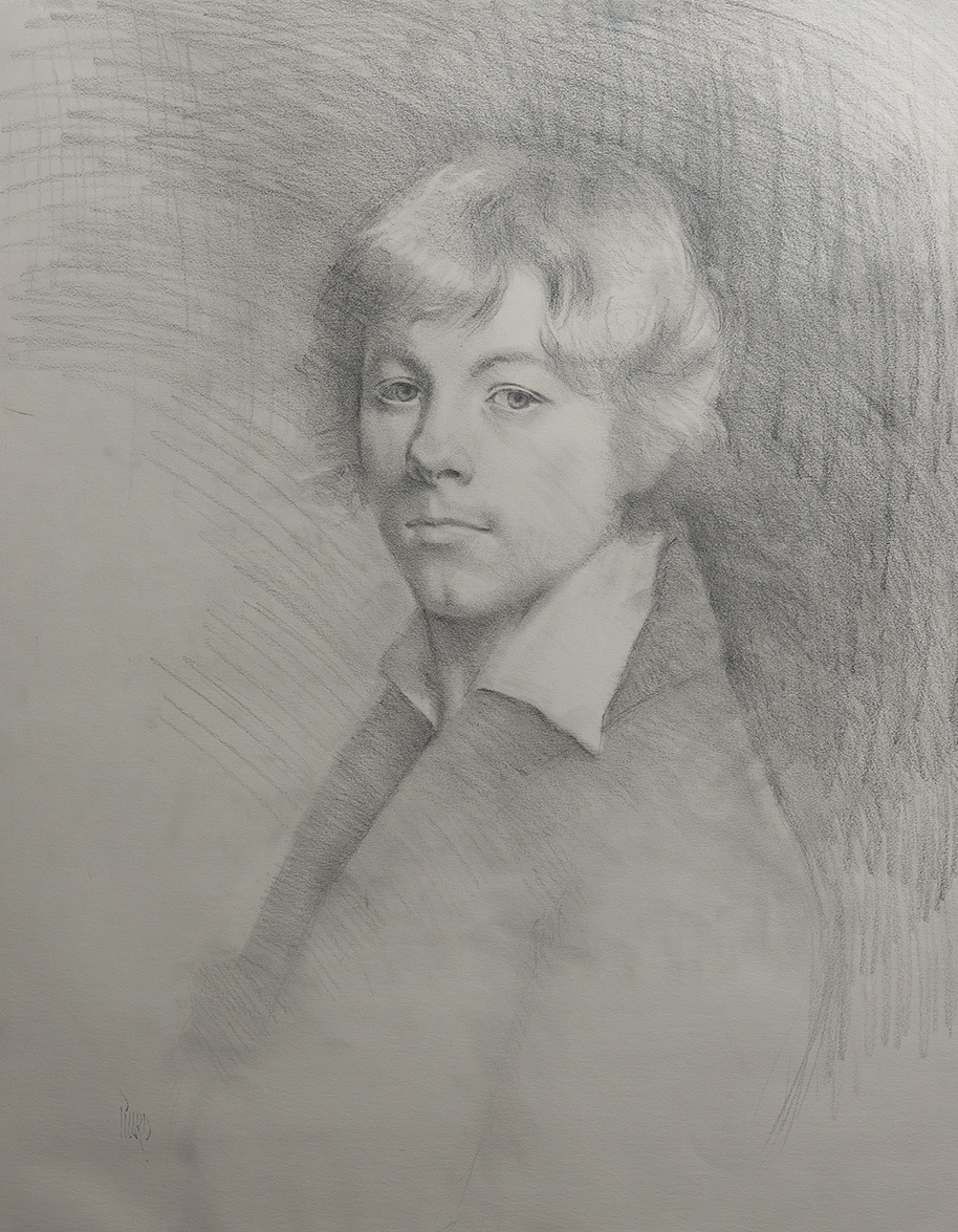 After Drolling  graphite on Strathmore paper. I created this copy study years ago after the self-portrait done in 1804 by French artist Michel Martin Drolling.