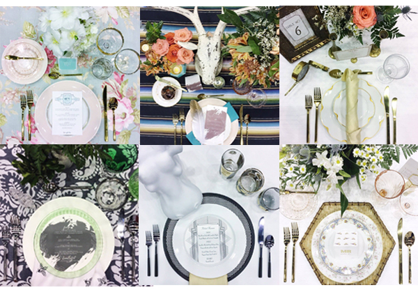 Menus, place cards and table numbers designed by Gretchen Berry Design Co. Styling and photos by Rentivist.