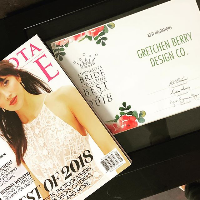 We are beyond thrilled to announce that GBDC was named Best Invitations by Minnesota Bride Magazine last week. Thank you to everyone who voted. And thank you to all our loyal and loving clients and friends! We so appreciate your continued support! #mnbridebestof2018
