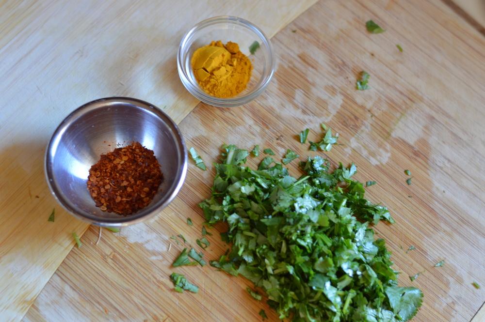 aleppo pepper turmeric cilantro