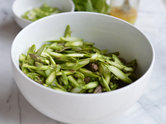 Seasonal recipe: asparagus salad with ginger and sesame