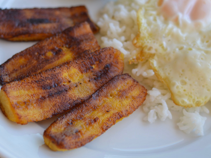 Plantain and rice