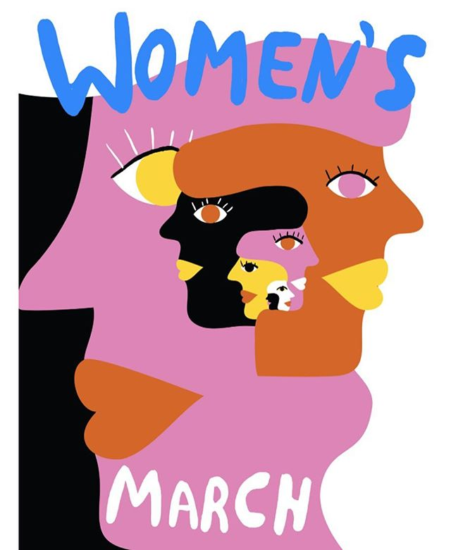 ✊🏻👊🏼✊🏽👊🏾✊🏾👊🏿 So much love to all the women who stood united today and who will continue to march on ❤️️ #womensmarch