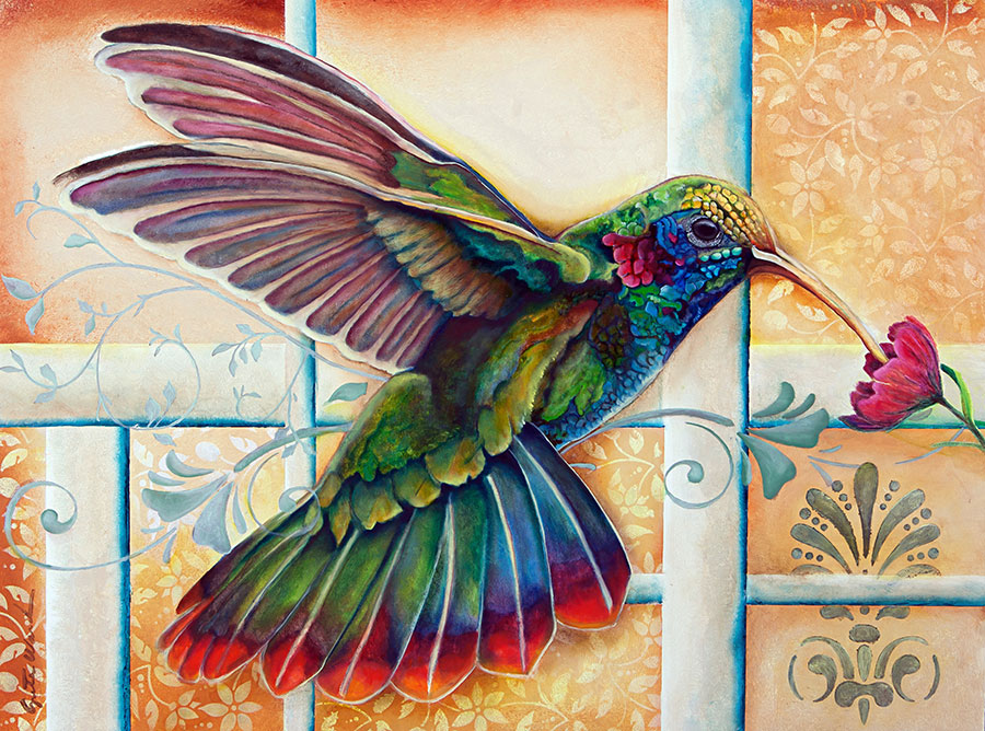 Hummingbird 18x24 Oil on Panel (Original SOLD)