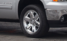 CHROME-CLAD  ALUMINUM WHEELS