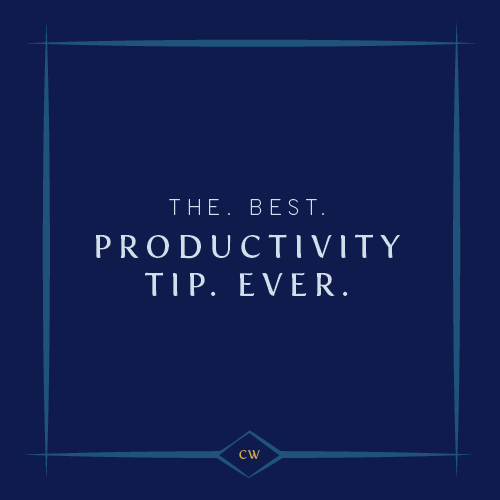 The Best Productivity Tip Ever | Cinnamon Wolfe Photography | NJ Wedding Photographer