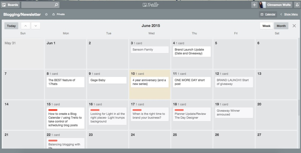 How to create a blog calendar using Trello | Blog Calendar