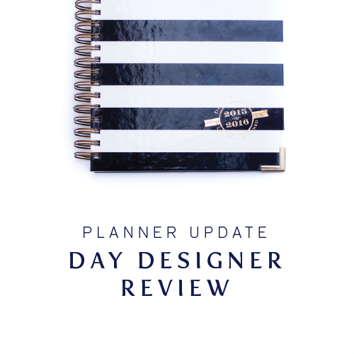 Planner Update Review of Day Designer