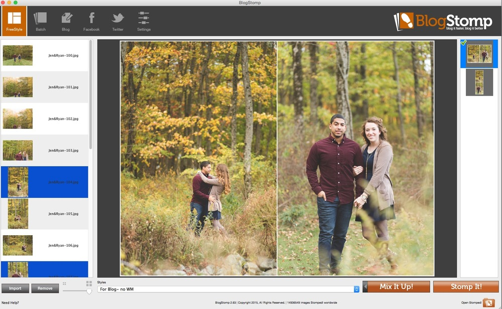 Use Blogstomp to resize images for web | Cinnamon Wolfe Photography | NJ Wedding Photographer