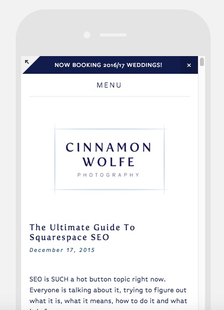 The ultimate guide to Squarespace SEO | Cinnamon Wolfe Photography | North NJ Wedding Photographer
