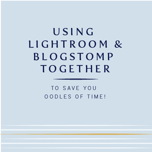 Lightroom plus Blogstomp | How to use Blogstomp