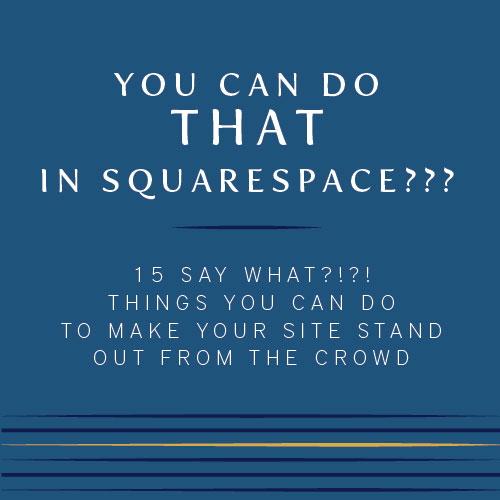 customize your squarespace website