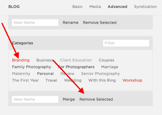 how do i use categories and tags in squarespace blog