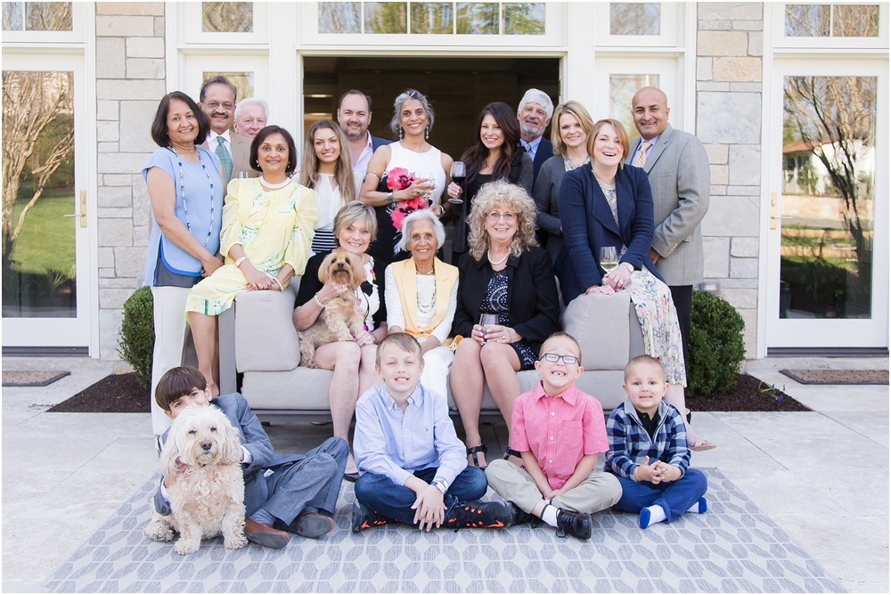 Backyard Family Photos for 1st communion