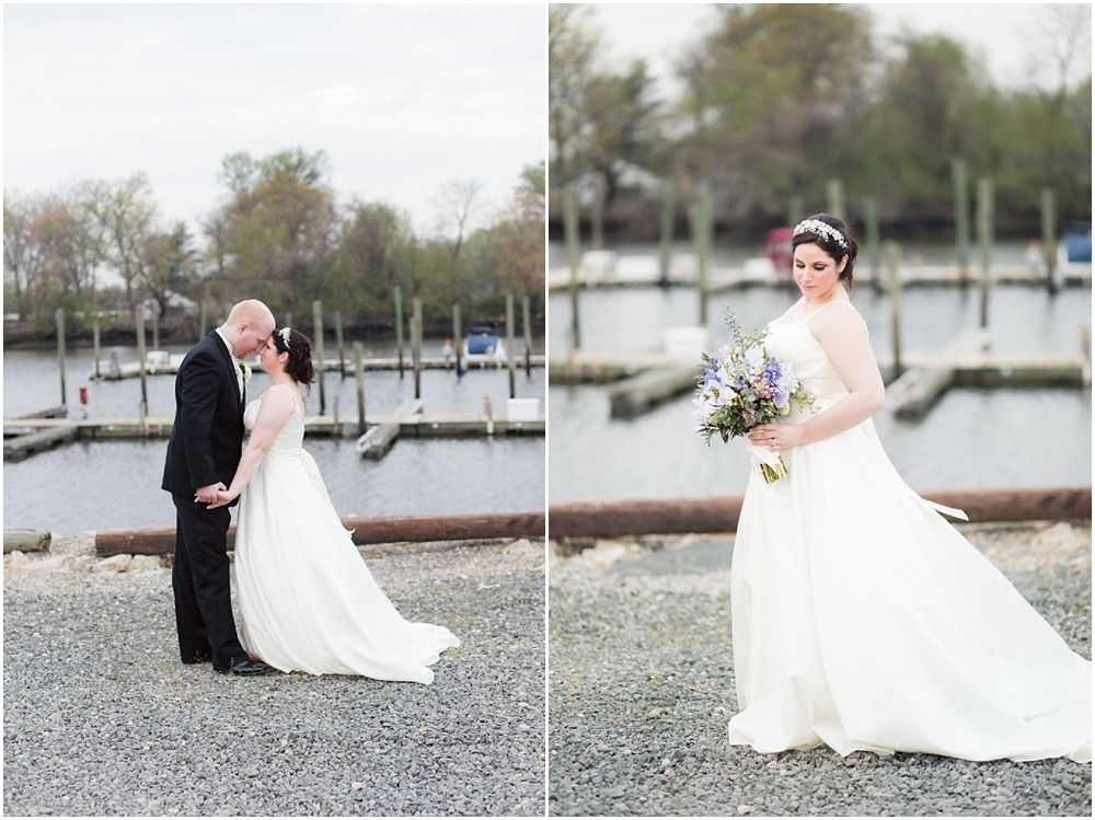 Clarks Landing Wedding photos of bride and groom