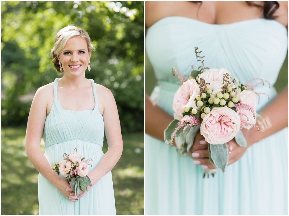 Morris County Wedding | NJ Wedding Photography | Mint bridesmaid dress