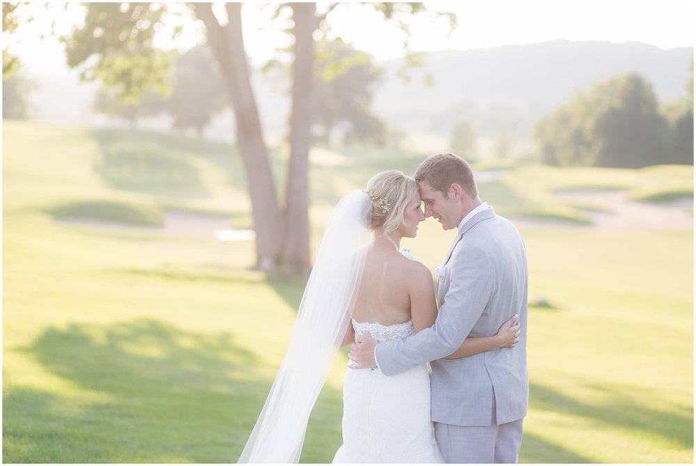 Blush and Grey Crystal Springs Golf Resort Summer Wedding