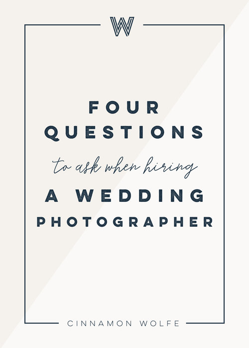 Questions you should ask your wedding photographer private photo four questions you should ask your wedding photographer wedding planning junglespirit Choice Image