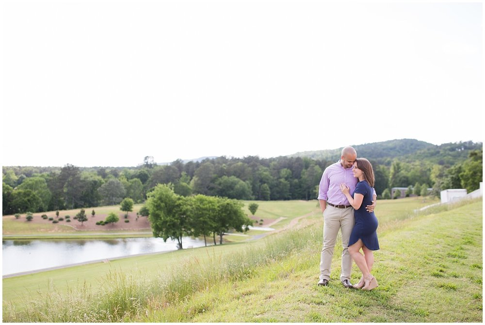 couple on a hill in Rome GA