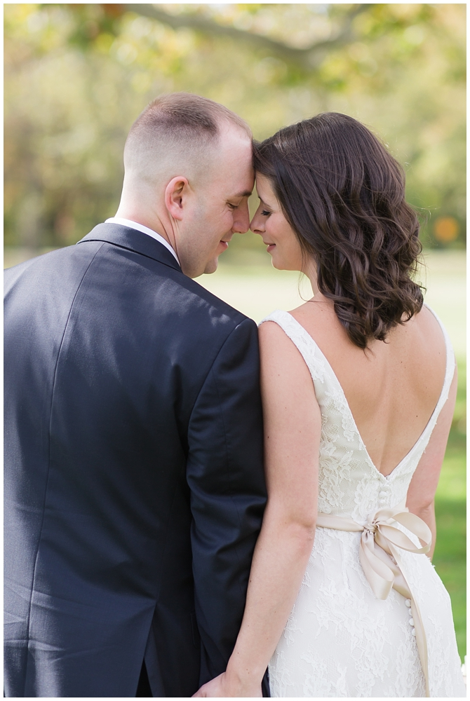 wedding portrait of bride and groom at Ninety Acres Natirar Peapack NJ