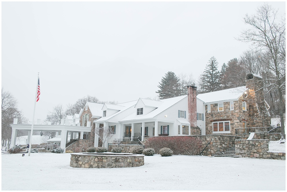Panther Valley Golf Club Snow Wedding