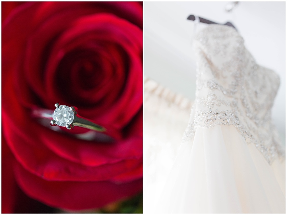 Black and Red wedding details