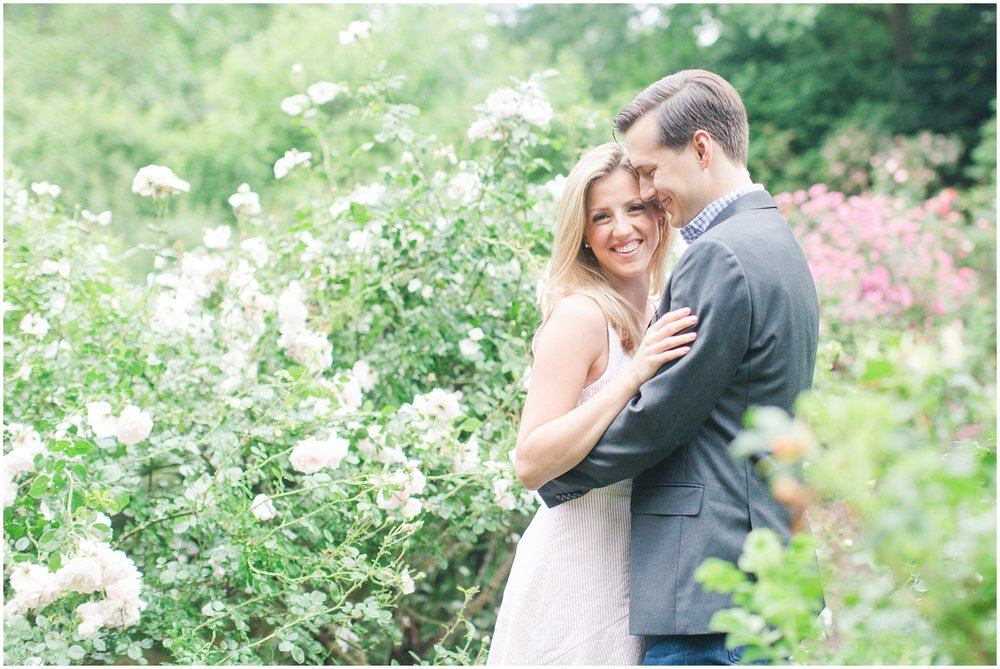 Reeves Reed Arboretum in Summit NJ Engagement Session